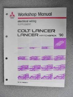 Mitsubishi Colt Lancer 1990 Wiring Diagram Manual PHME8801-2