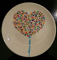 Anne Mae - Paint your own pottery - Plates Painted Ceramic Plates, Hand Painted Pottery, Painted Mugs, Hand Painted Ceramics, Ceramic Pottery, Pottery Painting Designs, Pottery Designs, Paint Designs, Painting Pottery Plates