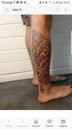 Tatouage Tribal Polynesien Mollet Tatouages Mollets