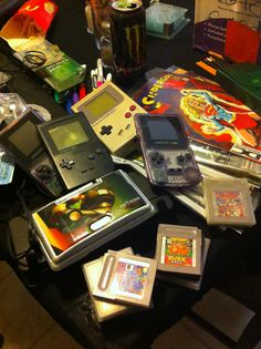 Found our old game boys and comics #jackpot #gameboy #comics #oldskool