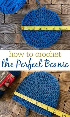 Stuck on crocheting beanies? Use this master beanie pattern to make just about any kind of hat. Any size, any yarn, any hook. # easy crochet hat How to Size Crochet Beanies + Master Beanie Pattern Picot Crochet, Crochet Hat Sizing, Easy Crochet Hat, Crochet Baby Hat Patterns, Crochet Baby Beanie, Free Crochet, Blanket Patterns, Crochet Men, Crocheted Hats