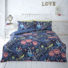 BNIC Butterfly Home by Matthew Williamson Magnolia Peacock Bedding Set Blue