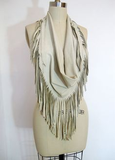 Leather fringe scarf...need.