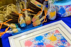 James' Art Attack / Painting Themed Party – Sweet Treats Craft Party, Party Themes, Arts And Crafts, Birthday, Artist, Sweet Treats, Painting, Sweets, Inspiration