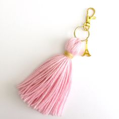 Love In Paris Charm Tassel Keychain by Hautepinkfluff on Etsy