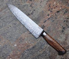 Custom Made Damascus Chef Knife