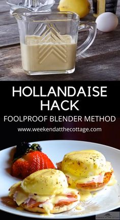 Easy Eggs Benedict, Eggs Benedict Recipe, Eggs Benedict Casserole, Hollandaise Sauce Blender, Recipe For Hollandaise Sauce, Grilled Vegetables, Grilled Meat, Sauce For Eggs, Healthy Breakfast Menu