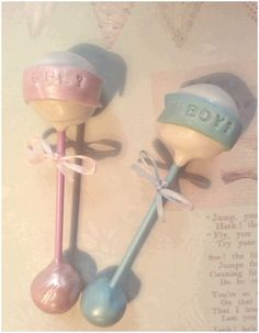 Baby rattle cake pops