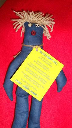 Police Dammit Doll by tobeesgifts on Etsy, $14.95