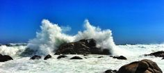 Rough sea of the Yzerfontein coast Heart Place, Rough Seas, Niagara Falls, West Coast, South Africa, Ocean, Explore, Landscape, Places