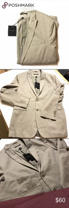 Men's JV blazer jacket Men's John Varvatos USA blazer/sports coat/jacket, taupe/sand, fully lined, 100% cotton, size 44. New with tags. John Varvatos Suits & Blazers Sport Coats & Blazers