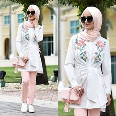 Hijab summer style-Street fashion style – Just Trendy Girls
