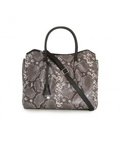 Erin top handle in a python print leather