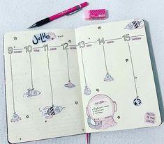 Inspirações de layouts para bujo (1) Bullet Journal School, Bullet Journal Layout, Bullet Journal Inspiration, Bullet Art, Organization Bullet Journal, Planer, Journaling, Studyblr, Kindergarten