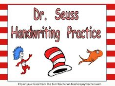 FREE Handwriting Practice for Dr. Seuss' Birthday!!