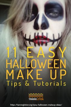 11 Easy Halloween Makeup Tips And Tutorials | Halloween is the time of the year where you can go out and be anyone or anything you can imagine. By using colorful makeup palettes and applying bronzers for that extra glam look, you can go for a scary Halloween look or a glamours get up. These easy-to-follow Halloween tutorials will help you achieve your makeup goals. Don't forget to use the right makeup to make your tan glow even more! Halloween Looks, Halloween Make Up, Halloween Face Makeup, Make Tutorial, Halloween Tutorial, Makeup Goals, Makeup Tips, How To Apply Bronzer, Scary Makeup