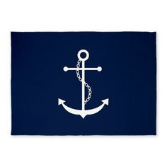 Navy Blue Anchor Pillow Case by Heartlocked - CafePress Nautical Rugs, Nautical Colors, Nautical Bedding, Coastal Rugs, Nautical Home, Nautical Nursery, Navy Blue Area Rug, Blue Area Rugs, Anchor Pillow