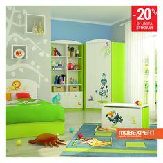 Camera de copii Happy. Colectia Happy debordeaza de culori prietenoase, astfel ca va aduce un zambet permanent in camera copilului vostru. Broscute, lei, zebre, hipopotami si alte animale simpatice sunt ilustrate intr-o grafica realistica si evidentiate de gravuri, conducandu-l pe micut intr-o lume a explorarii, plina de optimism. #mobilier #camera #copii Kids Room, Home Decor, Room Kids, Decoration Home, Room Decor, Child Room, Kid Rooms, Home Interior Design, Home Decoration