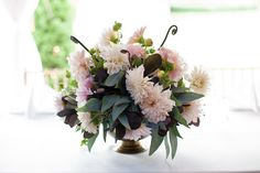 Light pink dahlias from the talented Janie at Bride's Cafe