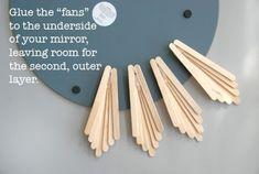 Starburst tray/ mirror