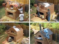 pizza oven construction II Outdoor Oven, Outdoor Cooking, Outdoor Projects, Garden Projects, Bq Grills, Bread Oven, Four A Pizza, Barbecue Area, Kitchen Oven
