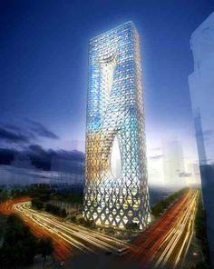 Unusual Buildings, Amazing Buildings, Modern Buildings, Office Buildings, Modern Houses, Kuala Lumpur, Architecture Unique, Futuristic Architecture, Chinese Architecture