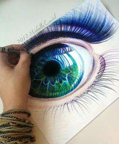 رسم عين