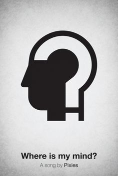 "Pictogram music posters - ""Where is my mind?"" a song by Pixies"