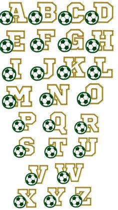 Sports font with soccer ball. Soccer mum g Soccer font embroidery design. Sports font with soccer ball. Soccer mum g Soccer Birthday Parties, Soccer Party, Birthday Gift For Him, Soccer Ball Crafts, Soccer Wedding, Embroidery Patches, Embroidery Applique, Machine Embroidery Designs, Embroidery Needles