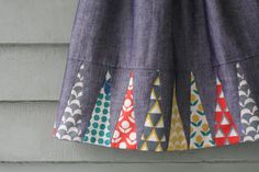 A great detail to the bottom of a shirt, skirt or dress, all with the help of fat quarters!