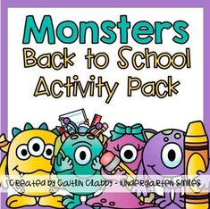 First Week of School (or two!)This Back to School unit (with monsters) focuses on skills/centers for the first two weeks of school.