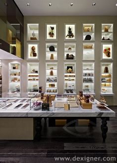 Godiva Chocolatier Retail Concept 03 -- display cases and LED lighting decor