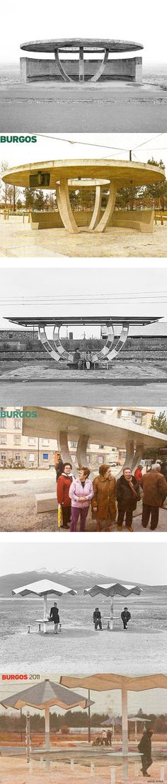 recently built bus-stops designed by H are indeed a direct replica of soviet ones erected in Armenia in 1970s.