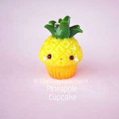 "2,753 Likes, 48 Comments - Meghan (@theclaycroissant) on Instagram: ""Here's a little pineapple cupcake that was part of the fruit themed cupcake custom order from a…"""