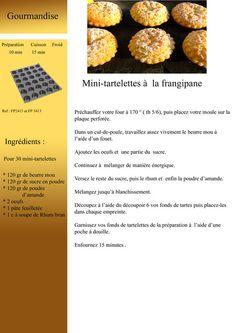 Mini-Tartelettes à la Frangipane