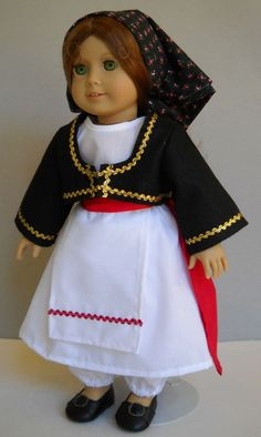 """Fits 18"""" American Girl doll Greek Greece folk dress clothes C (COSTUME ONLY) #Handmade #ClothingShoes Dress Clothes, Dress Outfits, Doll Clothes, Dresses, Og Dolls, Girl Dolls, Historical Dress, Historical Clothing, Costume Patterns"""