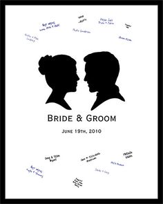 Classic Wedding Silhouette Signature Poster by artladymanor, via Flickr