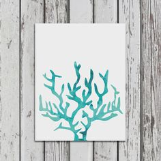Bring a piece of the ocean into your home, office or nursery with this aqua blue watercolor coral print. It will add a coastal vibe to any home - near and far from the beach! Each print is carefully m