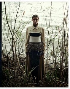 """""""Forest Fairy"""" Petra Hegedus and Cordula Reyer by Mateusz Stankiewicz for Madame Germany August 2014"""