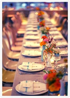 vibrant and unique wedding tablescapes