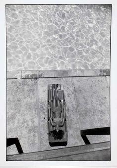 Garry Winogrand, Woman sunbathing beside the pool, seen from above, from Women are Beautiful, 1981 Garry Winogrand, Jeanloup Sieff, Elliott Erwitt, Diane Arbus, New York Photographers, Helmut Newton, Beverly Hilton, Gelatin Silver Print, Pools