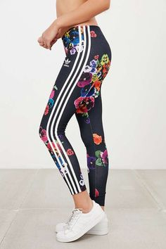 adidas Originals Floral Print Legging - Urban Outfitters