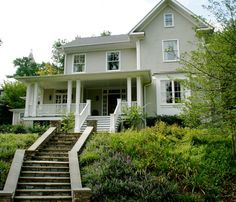 Bungalow Exterior - traditional - exterior - dc metro - The Painted Room-Benjamin Moore Sandy Hook Gray
