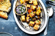 Make this easy Indian side dish with paneer, chilli & red onion salad, in just 20 minutes. For more Indian recipes & dinner ideas visit Tesco Real Food.