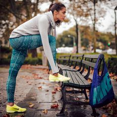 Nike Women's Hypernatural Hoodie, Nike Women's Pro Hyperwarm Nordic Compression Tights, Nike Women's Zoom Fit Agility Training Shoe, and Nike Graphic Reversible Tote Bag available at Dick's Sporting Goods. #DSGWomens