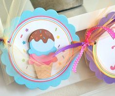 Ice Cream Party, Birthday Banner via Etsy