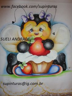 Mão Amiga: Trabalhos e riscos da artesã Sueli Andrade (tirada... Tole Painting, Fabric Painting, Painting & Drawing, Cute Animal Illustration, Country Paintings, Embroidery Patterns Free, Cute Little Things, Pastel, Cartoon Drawings