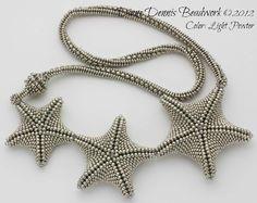 Diane Dennis Beadwork - interesting herringbone rope (color is light pewter)