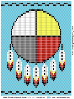 Medicine wheel - free loom beadwork design