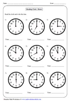 Great worksheets for telling time perfect for years 1-5. For more worksheets visit the website below.